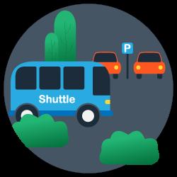 Parkplatz Shuttle